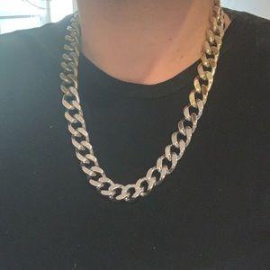 Beautiful tritone metal necklace